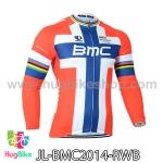 เสื้อจักรยานแขนยาวทีม BMC 14 สีแดงขาวน้ำเงิน สั่งจอง (Pre-order)