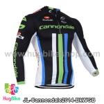 เสื้อจักรยานแขนยาวทีม Cannondale 14 ดำขาวเขียวฟ้า สั่งจอง (Pre-order)