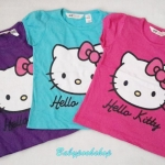 H&M : เสื้อยืดลาย Hello Kitty สีม่วง size 8-10y
