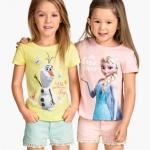 H&M : เสื้อยืด สกรีนลาย Snow Queen สีชมพู (งานช้อป) Size : 1.5-2y / 6-8y / 10-12y