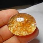 เม็ดโต แก้วกาบทอง+ประกายรุ้ง กาบสวย น้ำงาม ขนาด3.5*2.7 cm