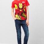 Mango : เสื้อยืด สีแดง สกรีนลาย IRON MAN Size : 2-4y / 4-6y / 6-8y / 8-10y / 10-12y