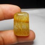 แก้วไหมทอง ขนาดสะสม เส้นสวย ขนาด 2.9x 1.9 mm