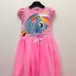 H&M : เดรสสกรีนลายม้าโพนี่ Rainbow Dash สีชมพูอ่อน size : 2-4y / 4-6y / 6-8y / 8-10y / 10-12y