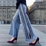 กางเกงยีนส์ ผ้าฟอก ทรงสวย