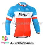 เสื้อจักรยานแขนยาวทีม BMC 14 สีฟ้าขาวแดง สั่งจอง (Pre-order)