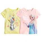 H&M : เสื้อยืด สกรีนลาย Snow Queen สีชมพู (งานช้อป) Size : 1.5-2y / 2-4y / 4-6y / 6-8y / 8-10y / 10-12y / 12-14y