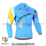 เสื้อจักรยานแขนยาวทีม Astana 14 สีฟ้า สั่งจอง (Pre-order)