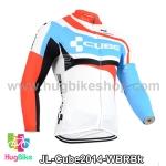เสื้อจักรยานแขนยาวทีม Cube 14 สีขาวฟ้าแดงดำ สั่งจอง (Pre-order)