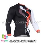 เสื้อจักรยานแขนยาวทีม Castelli 14 สีดำลาย สั่งจอง (Pre-order)