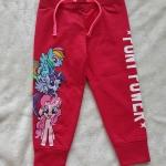 H&M : กางเกงขาจั๊ม สกรีนลายม้าโพนี่ สีชมพูเข้มออกแดง size : 6-8y