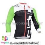 เสื้อจักรยานแขนยาวทีม Castelli 14 สีดำขาวเขียว สั่งจอง (Pre-order)