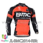 เสื้อจักรยานแขนยาวทีม BMC 14 สีแดงดำ สั่งจอง (Pre-order)