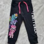 H&M : กางเกงขาจั๊ม สกรีนลายม้าโพนี่ สีดำ size : 2-4y