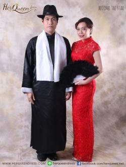 เช่าแฟนซี &#x2665 ชุดแฟนซี ชุดคู่ เจ้าพ่อเซี่ยงไฮ้