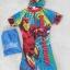 ชุดว่ายน้ำบอดี้สูทลาย Ironman สีฟ้า ซิปหน้า พร้อมหมวกและ ถุงผ้า Size : XS (3-4y) / M (5-6y) / L (6-7y) / XL (7-8y) thumbnail 1