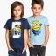 H&M : เสื้อยืดแขนสั้นสกรีนลาย Minion (งานช้อป) สีน้ำเงิน ตัวซ้าย Size : 1.5-2y thumbnail 1