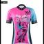 ชุดจักรยานผู้หญิงแขนสั้นขาสั้น CheJi 16 (02) สีชมพูฟ้าดำ ลายผีเสื้อ Recing is life สั่งจอง (Pre-order) thumbnail 15