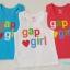 GAP : เสื้อกล้ามติดโลโก้ gap girl เนื้อผ้าเด้งนิดๆ นิ่มค่ะ สีฟ้า ขาว แดงออกส้ม thumbnail 1