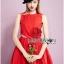 เดรสคัทเอาท์เอวตกแต่งดอกกุหลาบสีแดงสุดเซ็กซี่ thumbnail 6