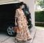 Maxi Dress พิมพ์ลายดอกไม้โทนสีส้มสดใส thumbnail 4