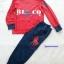 Polo : Set เสื้อแขนยาว + กางเกงขายาว สกรีนลาย ม้าโปโล สีแดง เนื้อผ้านิ่ม ไม่หนามาก thumbnail 1