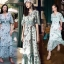Maxi Dress สุดเก๋ทรงคอvมีพู่ห้อยผูกโบว์ thumbnail 1