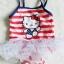 Hello Kitty : ชุดว่ายน้ำ คิตตี้ สีแดงลายขวาง size : 18m thumbnail 1