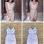 Dress สายเดียว เนื้อผ้าซีทรูปัก thumbnail 3