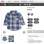 H&M : เสื้อเชิ๊ตแขนยาวลายทางสีน้ำเงิน แปะศอก ผ้า cotton เนื้อนิ่ม size 6-9m thumbnail 1