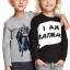 H&M : เสื้อแขนยาว I am Batman สีดำ (ตัวขวา) size : 4-6y thumbnail 1