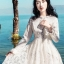 Maxi Dress ลูกไม้ สีขาว thumbnail 4