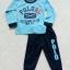 carter's : set เสื้อแขนยาว+ขายาว RL (แขนขาจั๊ม) สีฟ้า size : 1T (9-18m) / 2T (1-2y) thumbnail 1