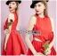 เดรสคัทเอาท์เอวตกแต่งดอกกุหลาบสีแดงสุดเซ็กซี่ thumbnail 1