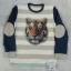 TEZENIS : เสื้อยืดสกรีนลายเสือแขนยาว ปะหนังที่แขน Size 10-11y thumbnail 1