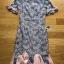 เดรสผ้าลูกไม้สีเทาชมพูตกแต่งระบายสีชมพู thumbnail 6
