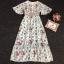 Maxi Dress สุดเก๋ทรงคอvมีพู่ห้อยผูกโบว์ thumbnail 5