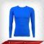 เสื้อรัดรูป Bodyfit แขนยาวคอกลม สีฟ้าเข้ม mediumblue thumbnail 1