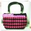 กระเป๋าเชือกร่มสีชมพูดำ (paracord bag) thumbnail 1
