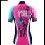 ชุดจักรยานผู้หญิงแขนสั้นขาสั้น CheJi 16 (02) สีชมพูฟ้าดำ ลายผีเสื้อ Recing is life สั่งจอง (Pre-order) thumbnail 20