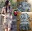 เดรสผ้าลูกไม้สีสดใสตกแต่งระบายและผ้าแถบลายทาง thumbnail 1