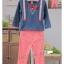 เซ็ท เสื้อแขนยาวติดหูกระต่ายสีน้ำเงิน+กางเกงสีชมพู thumbnail 1