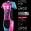 ชุดจักรยานผู้หญิงแขนสั้นขาสั้น CheJi 16 (02) สีชมพูฟ้าดำ ลายผีเสื้อ Recing is life สั่งจอง (Pre-order) thumbnail 3