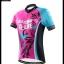 ชุดจักรยานผู้หญิงแขนสั้นขาสั้น CheJi 16 (02) สีชมพูฟ้าดำ ลายผีเสื้อ Recing is life สั่งจอง (Pre-order) thumbnail 16
