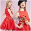 เดรสคัทเอาท์เอวตกแต่งดอกกุหลาบสีแดงสุดเซ็กซี่ thumbnail 4