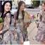 เดรสผ้าลูกไม้สีสดใสตกแต่งระบายและผ้าแถบลายทาง thumbnail 2
