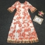 Maxi Dress พิมพ์ลายดอกไม้โทนสีส้มสดใส thumbnail 5