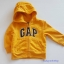 Gap : แจ็คเก็ท กันหนาวมีฮูด ซิปหน้า สีเหลือง Size : 18-24m / 3y / 4y thumbnail 1