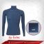 เสื้อรัดกล้ามเนื้อ แขนยาวคอตั้ง สีน้ำเงิน-เทา Royalblue รุ่น Extra(สุดยอดผ้ายืดผิวผ้าลื่น) thumbnail 1