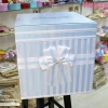 กล่องใส่ซองสี่เหลี่ยมผูกโบว์